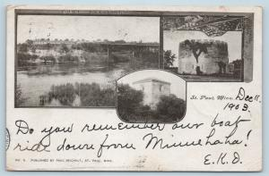 Postcard MN St. Paul Fort Snelling Multiview 1903 View G27