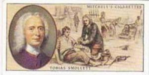 Mitchell Vintage Cigarette Card Famous Scots No 23 Tobias G Smollett 1721-1771