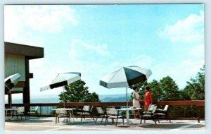 PIPESTEM STATE PARK, West Virginia WV ~ Patio MAIN LODGE c1960s  Postcard