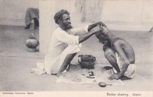 Barber Shaving Man's Head Jaipur India