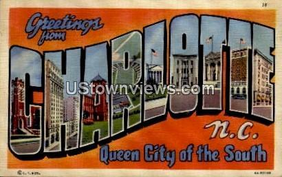 Queen City of the South Charlotte NC Writing on back