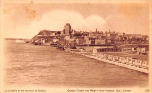 Quebec Citadel and Heights from Harbour Quebec Unused