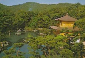 Rokuon Ji Temple Kyoko Golden Pond Japan Japanese Photo Postcard