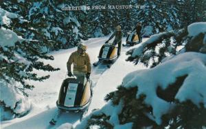 MAUSTON , Wisconsin, PU-1984 ; Snowmobilers
