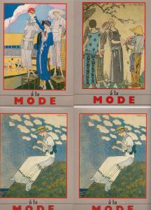 A La Mode 4x Stunning Fashion John Jesse Postcard s