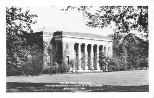 Nashville Tennessee Peabody College Psychology Bld Real Photo Antique PC K11137