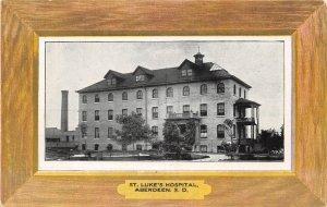St. Luke's Hospital, Aberdeen, South Dakota ca 1910s Vintage Postcard