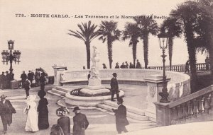 MONTE-CARLO, Monaco, 1900-1910s; Les Terrasses Et Le Monument De Berlioz
