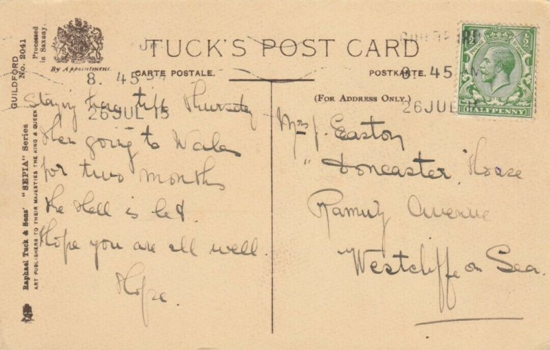 TUCK #2041; GUILFORD, England, 1900-10s; River Way