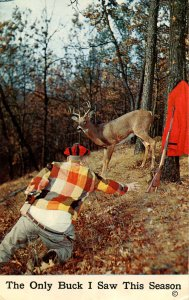 Humor - The only buck I saw this season…   (hunting)