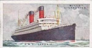 Wills Vintage Cigarette Card Merchant Ships Of The World 1924 No 13 R M S CAR...