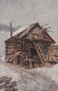 AS: W. Rubach; Log Cabin in a Snow Storm, 00-10s