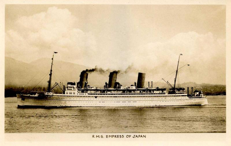 Canada - RMS Empress of Japan   *RPPC