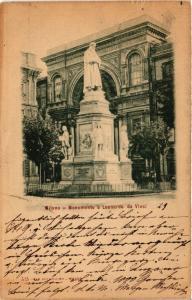 CPA AK Milano Monumento a Leonardo da Vinci ITALY (552933)