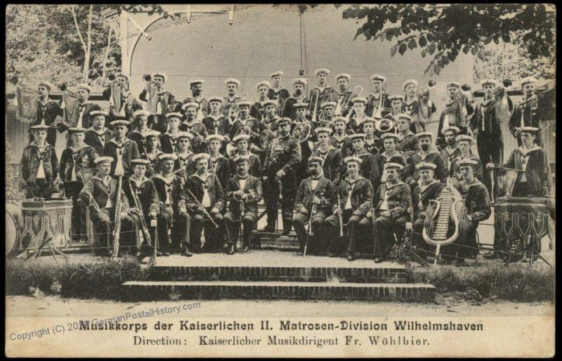 Germany WWI Kriegsmarine Navy II Division Band PC 75580
