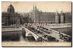 Postcard The Old Paris Pont au Change