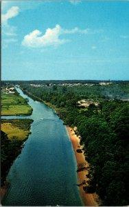 Vtg Lewes Canal Intra-coastal Waterway Rehoboth Bay Delaware DE Postcard