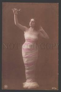 107792 NUDE Plump Woman DANCER as NYMPH Vintage PHOTO tinted