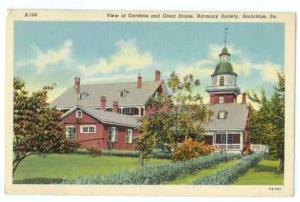 Gardens and Great House, Harmony Society, Ambridge, Pennsylvania PA, Linen