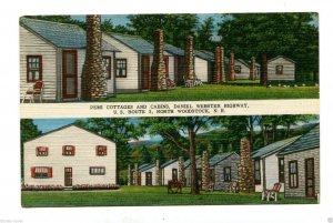 Vintage Postcard PEMI COTTAGES & CABINS North Woodstock NH Daniel Webster Hwy