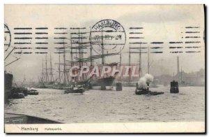 Postcard Old Hamburg Yacht Hafenpartie