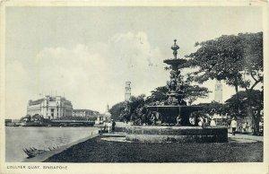 Singapore Postcard Collyer quai fountain
