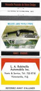 1969 Dodge Dart Custom--L A Robitaille Auto Victoriaville P.Q. Canada