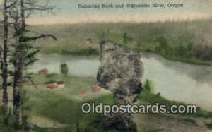 Balancing Rock Willamette River OR 1908