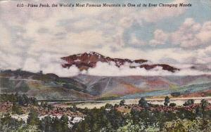 Colorado Pikes Peak The World's Most Famous Mountain In One Of Its Ever Chang...
