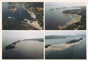 Canada British Columbia Aerial Views Quadra Island Herriot Bay & Rebecca ...