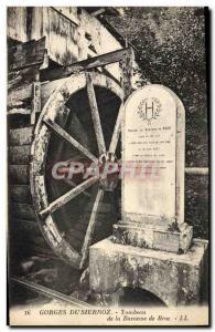 Old Postcard Gorges Sierroz Tomb of the Baroness de Broc