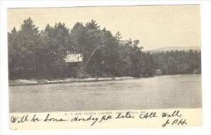 Camp site, East Sebago, Maine, 1906 PU