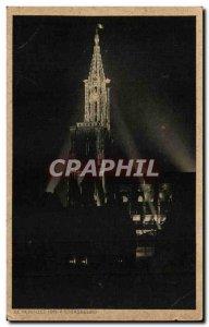 Old Postcard Strasbourg Cathedral July 14, 1919