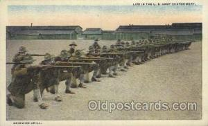 Life In the US Army Cantonment, Skirmish Drill, Naval Academy, Annapolis, Md,...