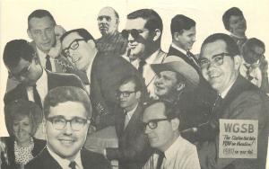 Mebane North Carolina~14 WGSB Radio Personalites~Named on Back~1960s B&W PC