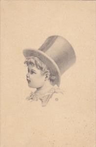 Young Boy Wearing Large Top Hat