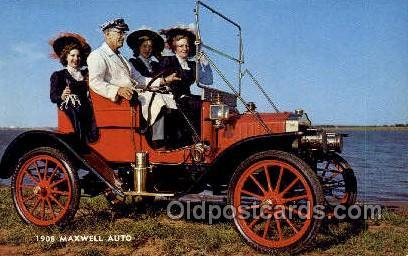 1908 Maxwell auto Antique Classic Car, Old Vintage Post Cards Postcard  1908 ...