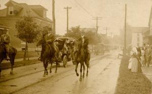 USA - Small Town Parade, circa 1910.  *RPPC
