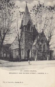 CAMDEN, New Jersey , 1909 ; St. John's Church, Broadway and Royden Street