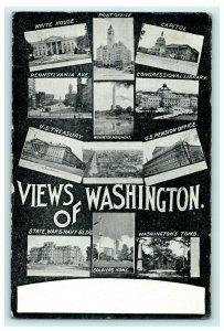 Multiview View Washington DC Tomb Office 1909 Capitol Vintage Antique Postcard
