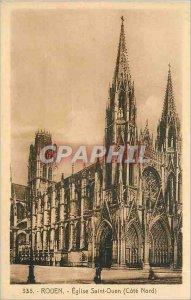 Old Postcard Rouen Eglise Saint Ouen (North Coast)