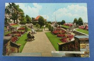 Vintage  Postcard  Sunken Garden Clacton-On-Sea Essex  Postmarked 1961 E1B