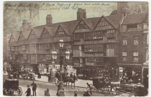 London; Old Houses, Holborn PPC, 1906 PMK, To Miss Green, Aix Les Bains