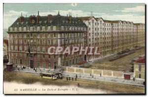Old Postcard Marseille Les Docks and Warehouse