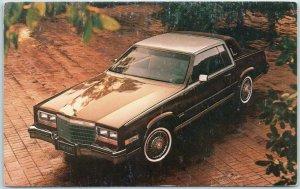 Vintage1982 CADILLAC Biarritz Model Postcard Brown Car / Advertising - Unused