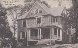 Maine Lewiston Home Of The President Bates College Albertype