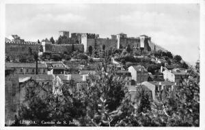 Portugal Lisboa Castelo de S. Jorge Castle Panorama Postcard