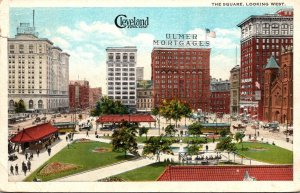 Ohio Cleveland The Square Looking West 1924