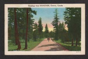 ON Greetings from HANOVER ONTARIO CANADA Postcard PC