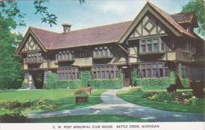 Michigan Battle Creek C W Post Memorial Club House